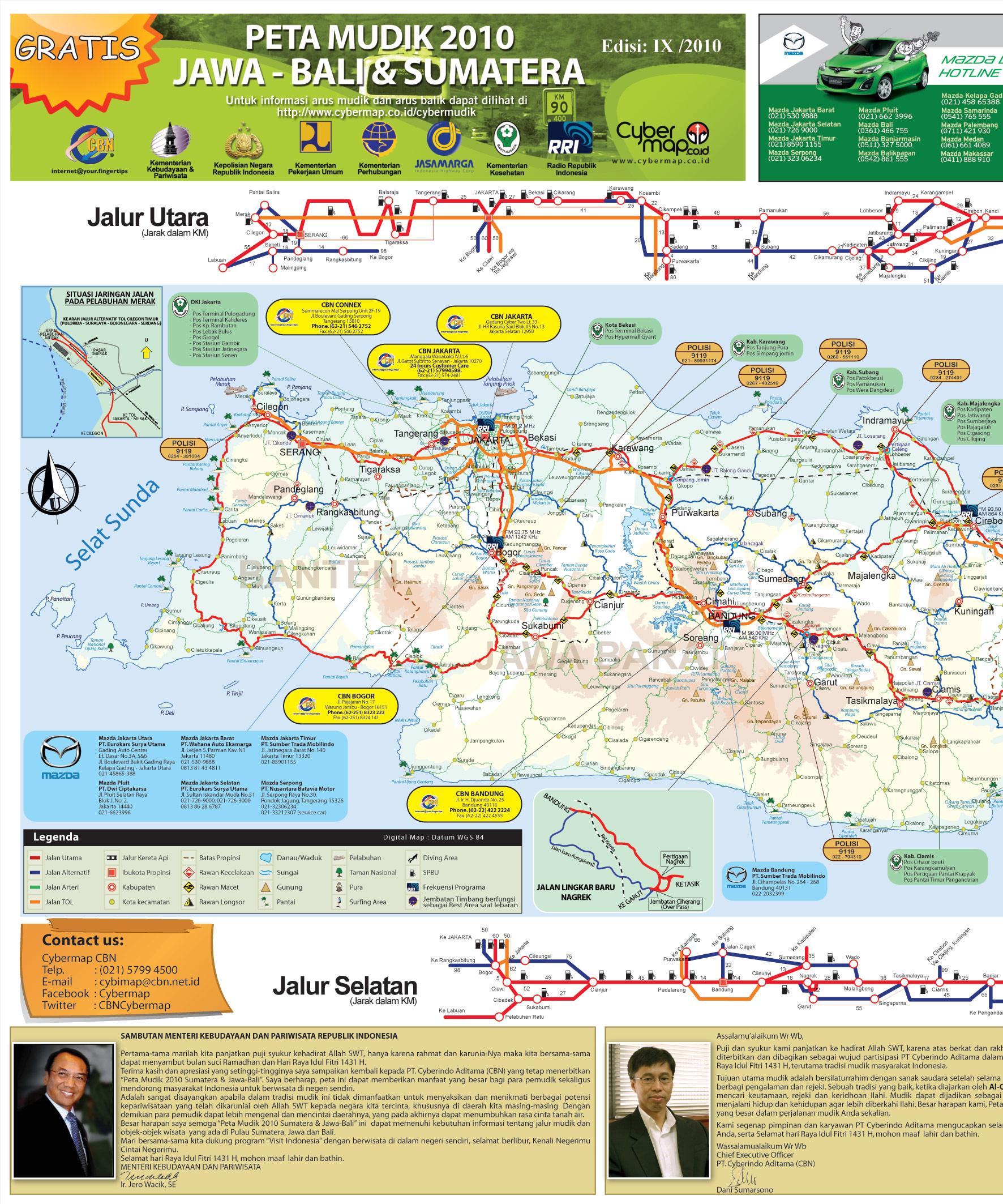 Download Peta Jalur Mudik 2010 (Sumatra-Jawa-Bali ...