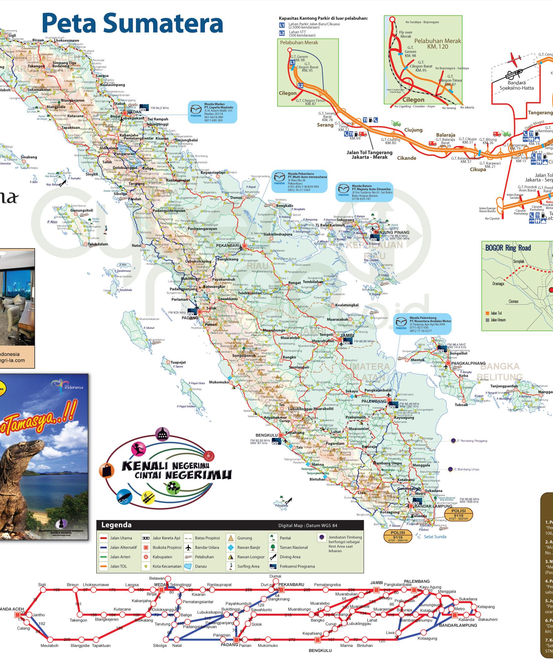 Download Peta Jalur Mudik 2010 (Sumatra-Jawa-Bali)
