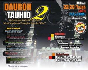 Dauroh Tauhid 2 Malang (3-8 Juli 2010).