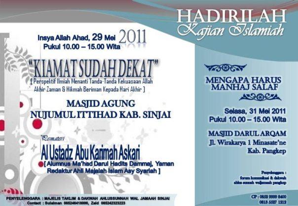 """Kajian Umum: """"Kiamat Sudah Dekat"""" bersama Ustadz Abu Karimah Askari (Sinjai, 29 Mei 2011)"""