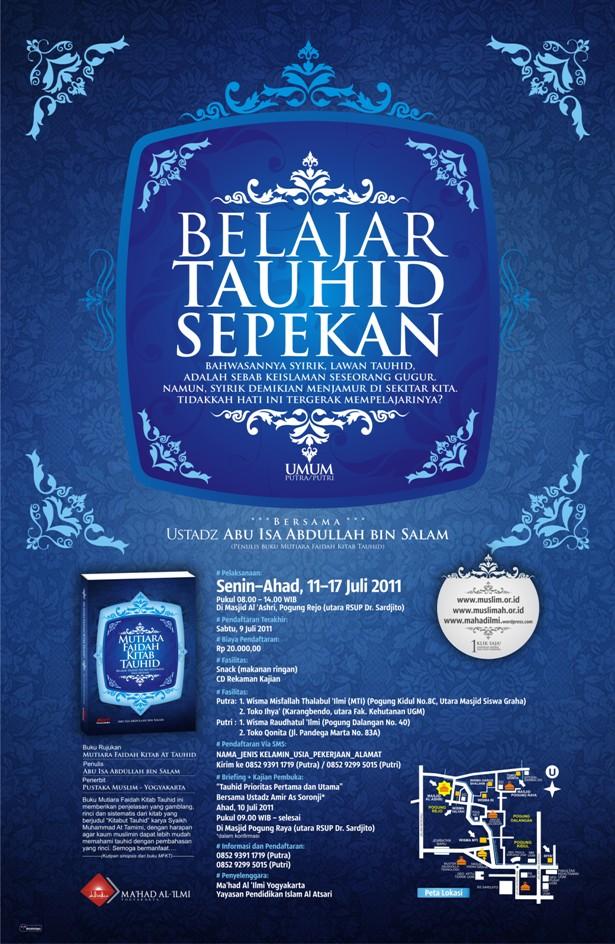 BELAJAR TAUHID SEPEKAN Bersama Ustadz Abu Isa Abdullah bin Salam