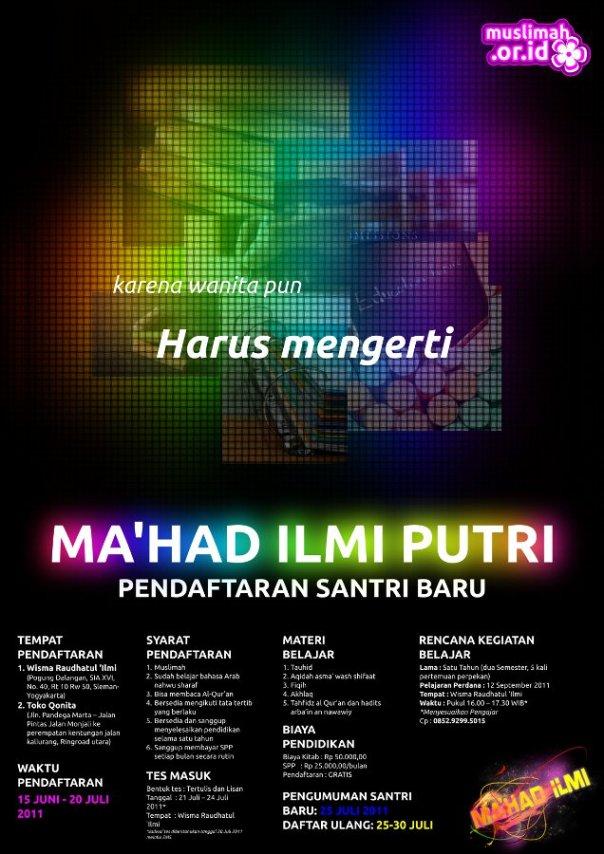 Pendaftaran Santri Baru Ma'had Al-Ilmi (Putri) Yogyakarta
