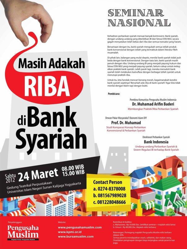 seminar riba bank syariah majalah pengusaha muslim