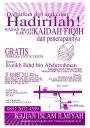 Kajian Ilmiah: KAIDAH FIQIH DAN PENERAPANNYA Bersama Syaikh Fahd bin Abdurrahman (Bandung, 25 Maret2012)