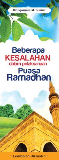 download Ebook Kesalahan Pelaksanaan Puasa Ramadhan