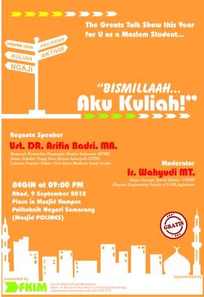 talk show mahasiswa islam