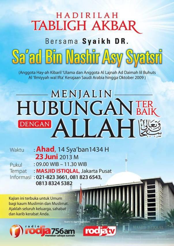 Tabligh Akbar Masjid Istiqlal BErsama Ulama Ahlus Sunnah