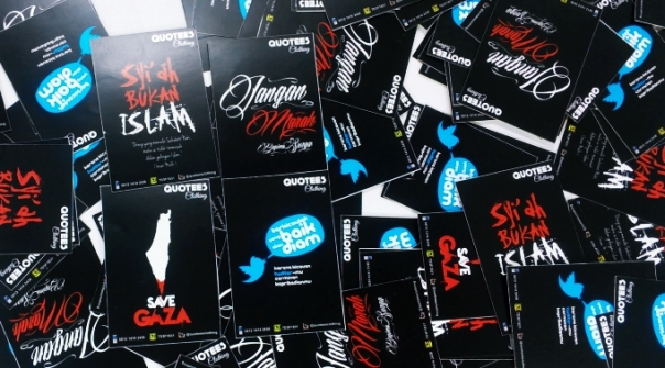 QUOTEES CLOTHING BONUS STIKER ISLAMI KEREN