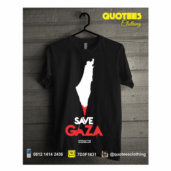 jual kaos distro islam save gaza palestine